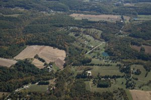 View of the VPC territory from the air